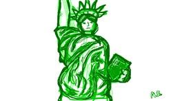 Drawing of Statue of Liberty by Ashley