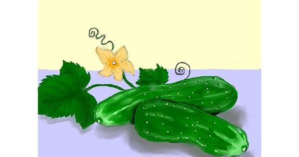 Cucumber drawing by Debidolittle