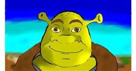 Drawing of Shrek by jule