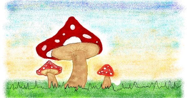 Mushroom drawing by Tiny🍒
