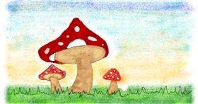 Drawing of Mushroom by Tiny🍒