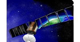 Drawing of Satellite by Rose rocket