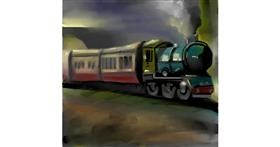 Train drawing by Aastha