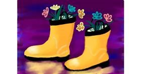 Boots drawing by Panda