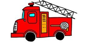 Firetruck drawing by Mekiki