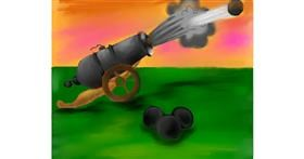 Cannon drawing by Freny