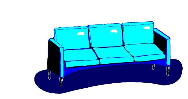 Couch drawing by blah