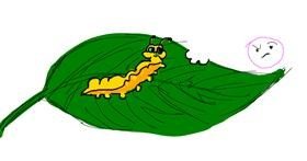 Caterpillar drawing by nuray