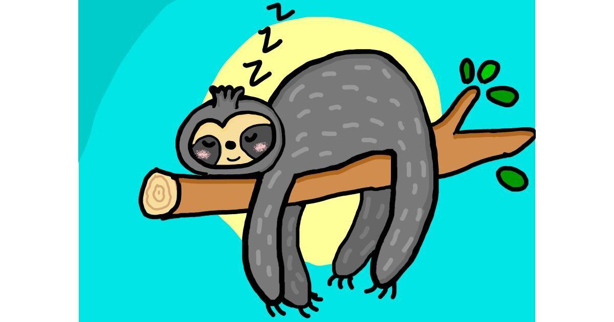 Sloth drawing by Mackanilla