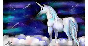 Unicorn drawing by Denie