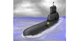 Submarine drawing by Bro 2.0😎