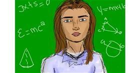 Teacher drawing by Milk