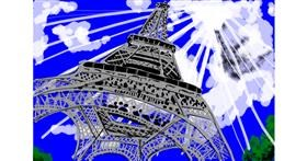 Eiffel Tower drawing by sewerboy
