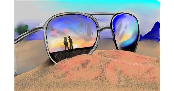 Sunglasses drawing by Rose rocket