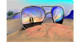 Drawing of Sunglasses by Rose rocket