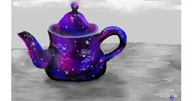 Teapot drawing by Denie