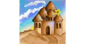 Drawing of Sand castle by 💝Alena💕