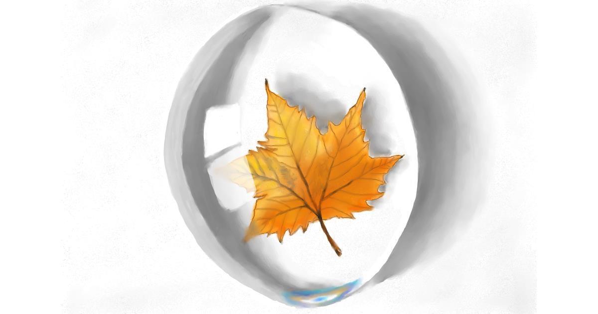 Drawing of Leaf by RadiouChka