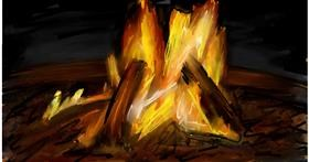 Drawing of Campfire by Soaring Sunshine