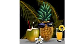 Drawing of Pineapple by Leah