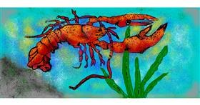 Drawing of Lobster by Kira