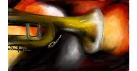 Trumpet drawing by Soaring Sunshine