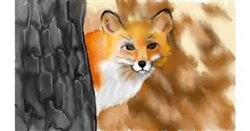 Drawing of Fox by Tim