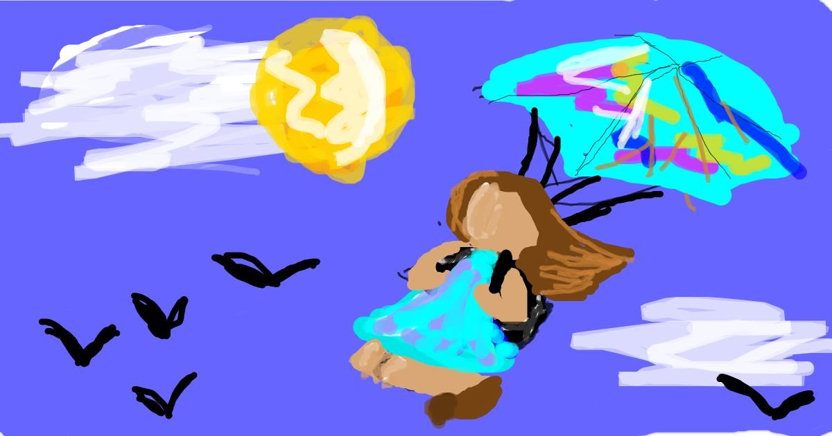 Parachute drawing by Star
