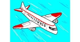 Airplane drawing by CatMatrixs