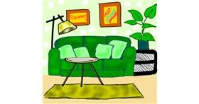 Drawing of Couch by Dreamer