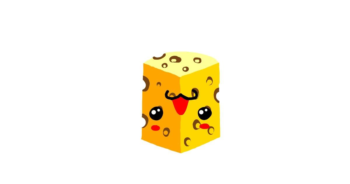 Drawing of Cheese by EVA