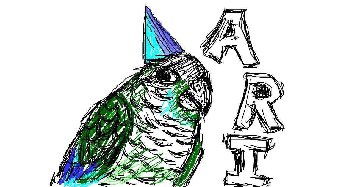 Drawing of Parrot by Warren