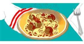 Drawing of Spaghetti by Debidolittle