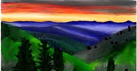 Drawing of Mountain by Soaring Sunshine
