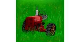 Tractor drawing by Emit