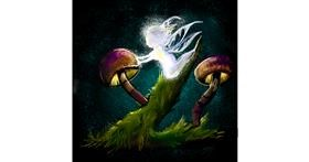 Drawing of Mushroom by Leah