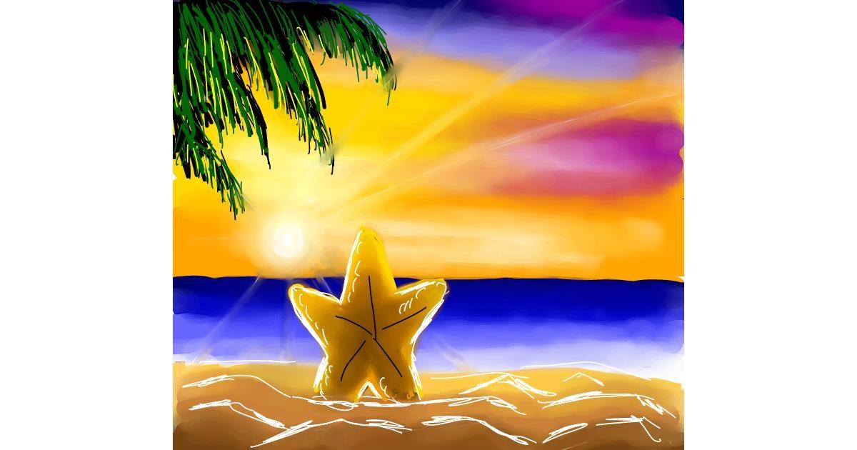 Starfish drawing by Joze