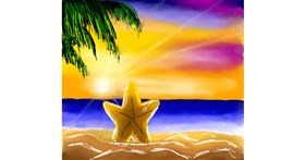 Starfish drawing by Joze