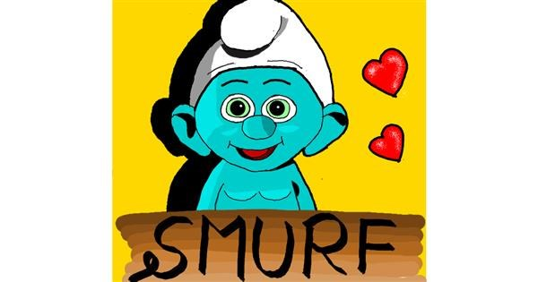 Smurf drawing by Loves