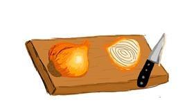 Onion drawing by Bigoldmanwithglasses
