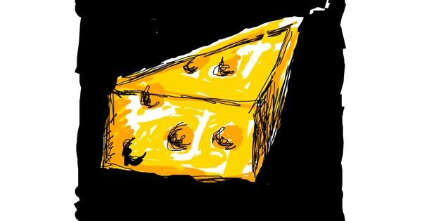 Cheese drawing by Paranoia