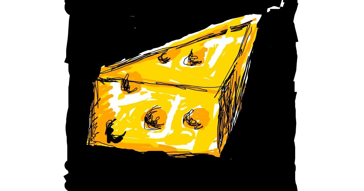 Drawing of Cheese by Paranoia