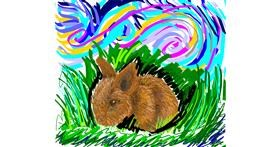 Bunny drawing by Iris