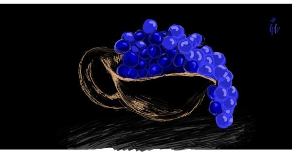 Grapes drawing by Helena
