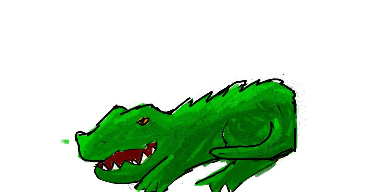 Alligator drawing by Data