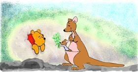 Kangaroo drawing by Helena