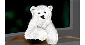 Polar Bear drawing by Tim