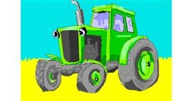 Tractor drawing by ThasMe13