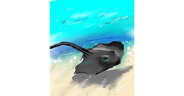 Stingray drawing by Muni