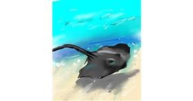 Stingray drawing by Muni